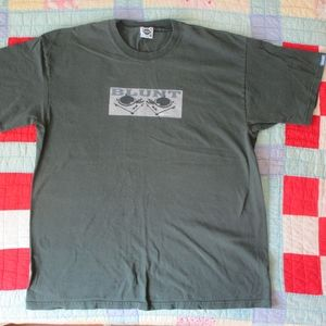 vintage blunt skateboard clothing tshirt green XL